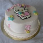 Festkake Bursdagskake fødseldagskake Hello Kittykake Sjokoladekake Marsipankake